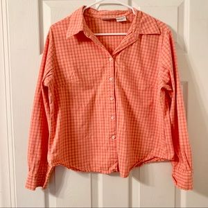 Basic Editions Orange Button Down Shirt
